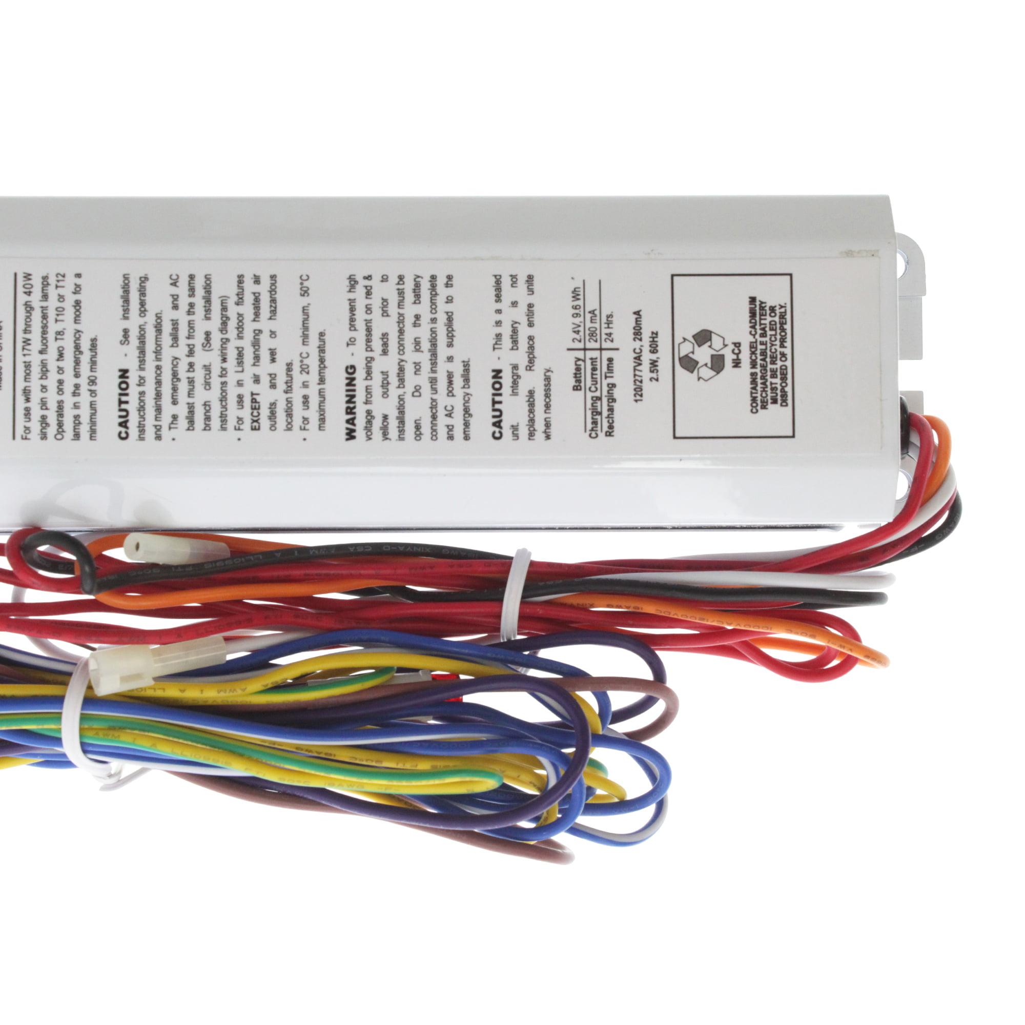Magnatron Bal500 Fluorescent Emergency Ballast 1 Lamp 500lumen T8 Wiring Diagram 25w 120 277v