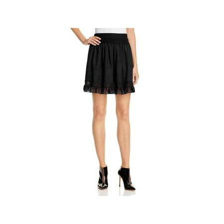Alexander McQueen Womens Peplum Mini A-Line Skirt