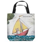 Where The Wild Things Are Max'S Boat Tote Bag White 18X18