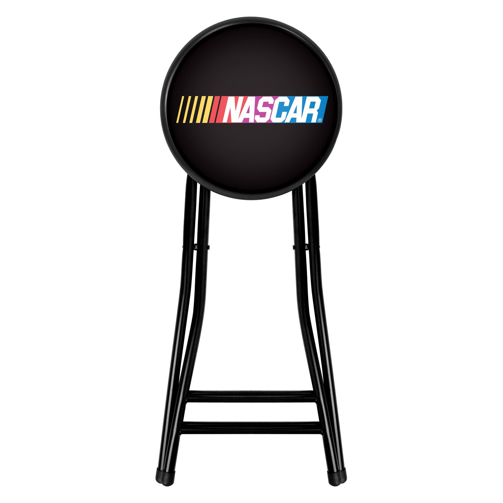 Trademark Global NASCAR 24 Inch Cushioned Folding Stool