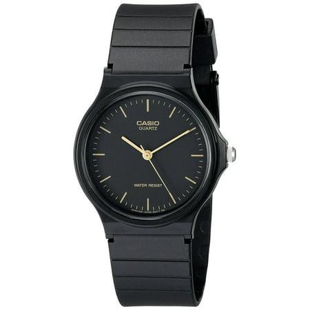 Casio MQ24-1E Men's Resin Band Casual Black Dial Analog Watch Analog Glitz Black Dial