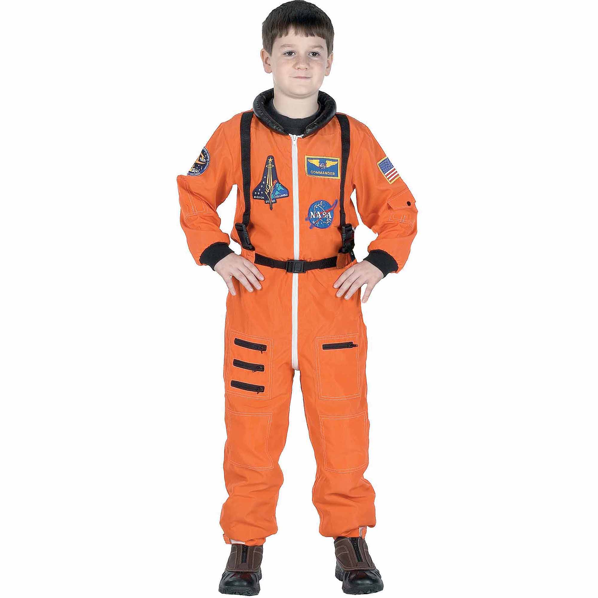 Orange Astronaut Suit Child Halloween Costume