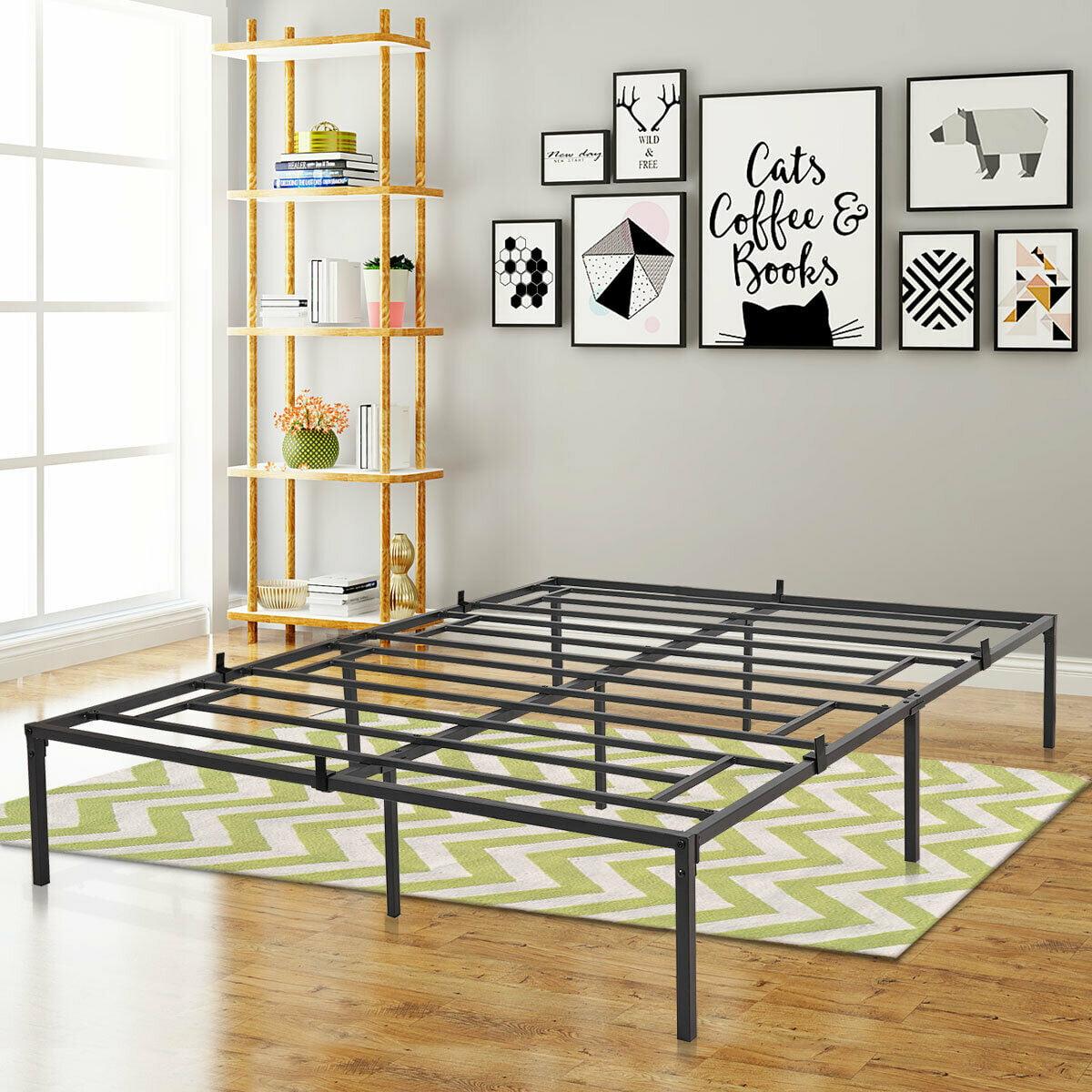 Image of: Black Heavy Duty Metal 14 16 5 Inch Tall Platform Standard Bed Frames 3000lbs Max Weight Capacity Twin Full Queen King Walmart Com Walmart Com