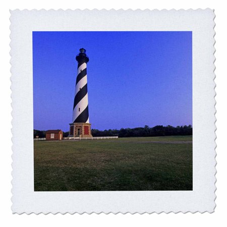 3dRose Cape Hatteras lighthouse, North Carolina - US34 MDE0004 - Michael DeFreitas - Quilt Square, 10 by 10-inch
