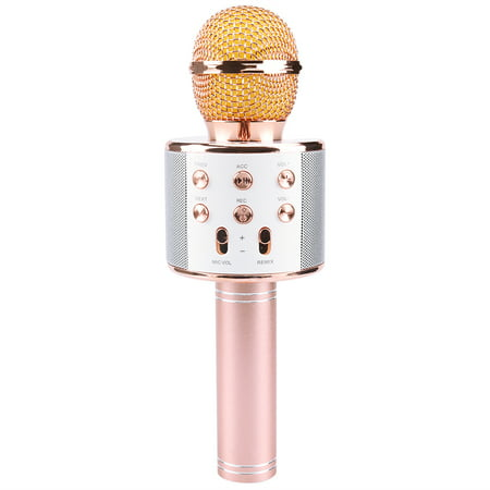 Wireless Bluetooth Microphone Karaoke Singing Handheld Smartphone Speaker Mic for Home KTV Outdoor