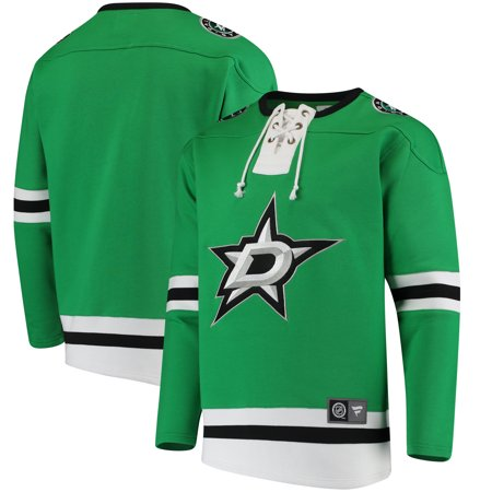 Kelly Lace - Dallas Stars Fanatics Branded Breakaway Lace Up Pullover Sweatshirt - Kelly Green