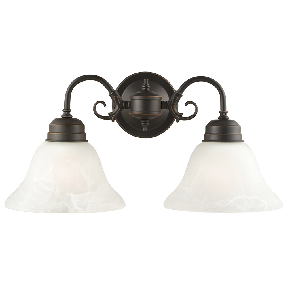 6797500 Two-Light Outdoor Wall Fixture Polished Graphite Finish on Steel