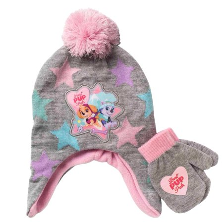 Best Outfits For Girls (Paw Patrol Toddler Girls Gray Best Pup Trapper Hat & Mittens Beanie)