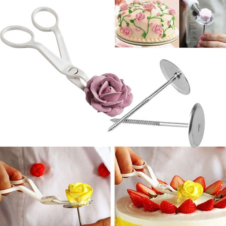 3Pcs Piping Flower Scissors+Nail Icing Bake Cake Decorating Cupcake Pastry Tools - Halloween Cake Decorating Ideas Simple