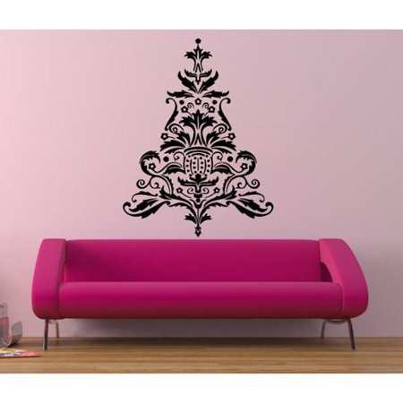 Floral tree decor vinyl sticker wall art for Walmart art decor