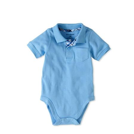 Monogrammed Collar Bodysuit Baby Polo Bodysuit