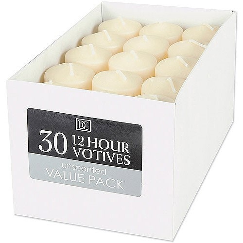 Unscented 12 Hour Votive Candles, 30 Pack by Darice