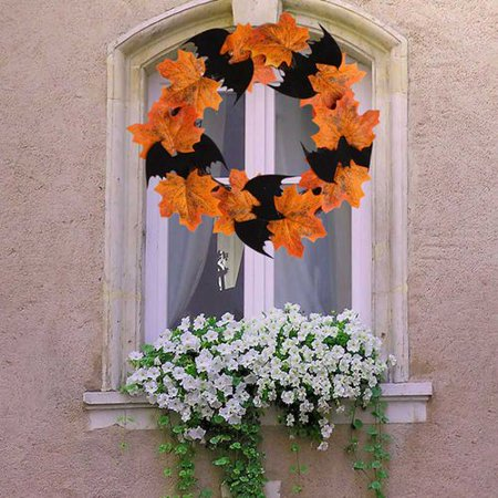 Power Plant Live Halloween Party (Michellem Halloween Thanksgiving Artificial Maple Leaf Vine Fake Foliage Autumn Leaves Garland Hanging Plant for Home Garden Hotel Wedding Party Festivals)