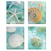 Artistic Home Gallery 'Seaglass 1, 2, 3 and 4' by Alan Blaustein 4 Piece Photographic Print on Wrapped Canvas Set