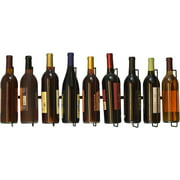 Wall Mount Wine Bottle Storage Rack, Holds Up To 9 Bottles