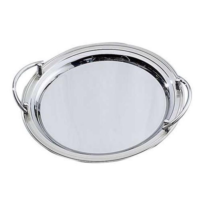 Elegance Round Stainless Steel Tray, Round Stainless Steel Tray