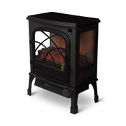 Limina Indoor Electric 1500W Stove Fireplace Infrared Quartz Space Heater, Black