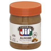 Jif Natural Creamy Almond Butter Spread, 12-Ounce
