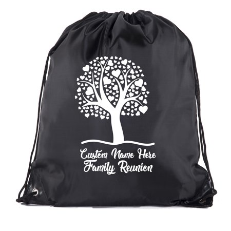 Custom Favor Bags (Heart Tree with custom and date- Family Reunion Party Favor)