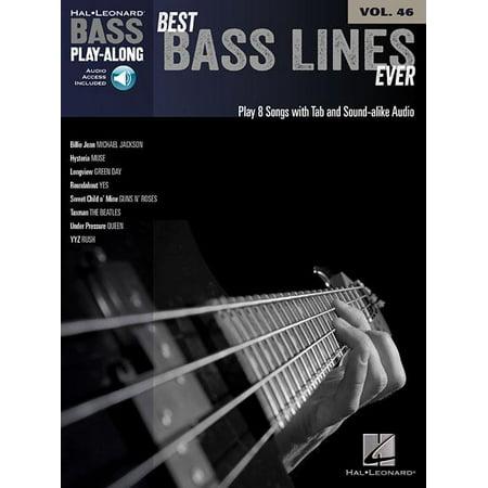 Hal Leonard Bass Play-Along: Best Bass Lines Ever (Best Way To Fillet A Bass)