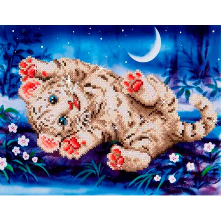 Needle Art World Baby Tiger Roly Poly Diamond Dotz for $<!---->