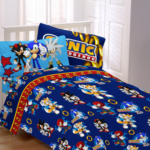 Sonic Speed Bedding Sheet Set Walmart Com