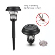 Lixada 2 Modes Solar Powered Sensor Electric Bug Zapper Repellant Pest Insect Mosquito Killer Lamp LED Trapping Lantern