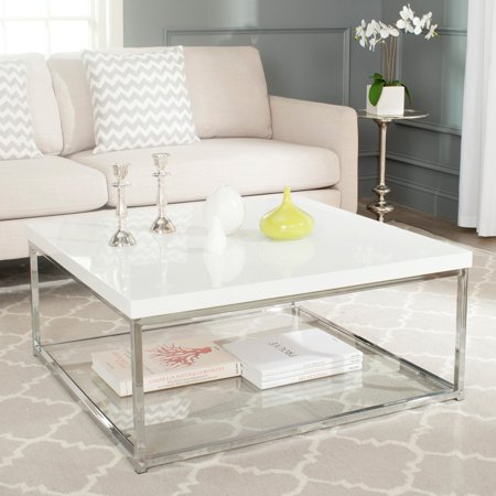 Safavieh Malone Chrome High Gloss Coffee Table ()