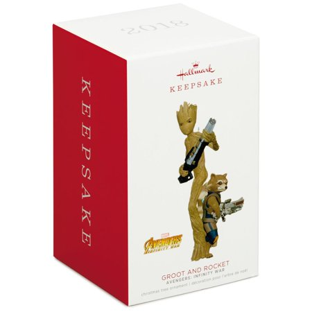 Hallmark Keepsake 2018 Marvel Avengers: Infinity War Groot and Rocket Ornament - Avengers Christmas Ornaments