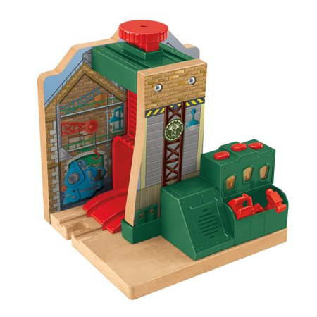 Fisher-Price Thomas the Train Wooden Railway Steamworks Lift and ...