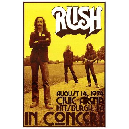 Jazz Concert Poster - Rush In Concert 1974 Poster - 24x36