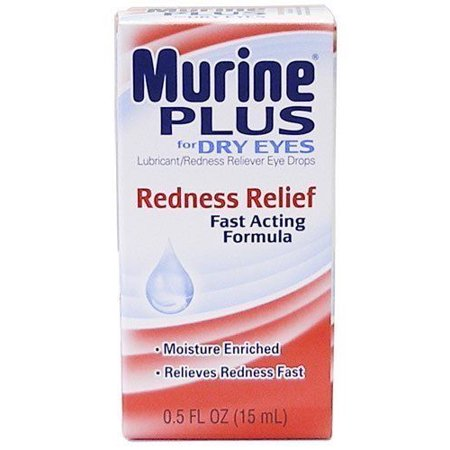 Murine Plus Eye Drops Redness Relief For Dry Eyes New (Eye Seal)
