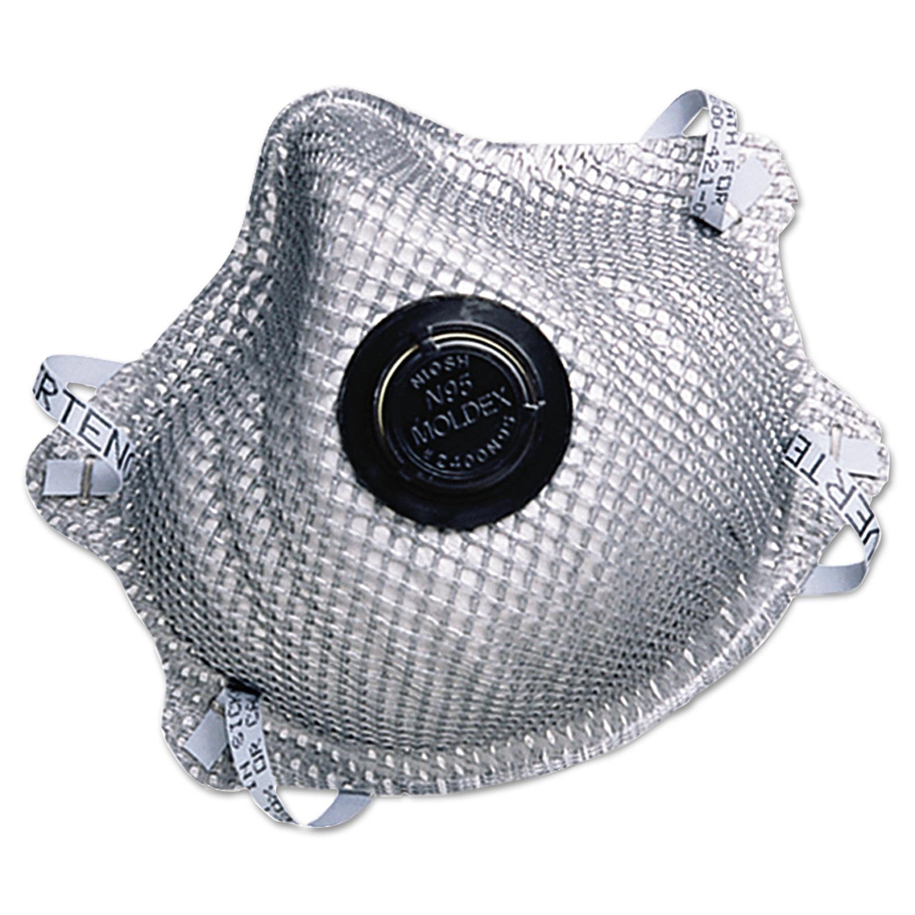 Moldex 2400N95 Series Particulate Respirator, Half-Face Mask, Medium Large, 10 Box by MOLDEX-METRIC, INC.