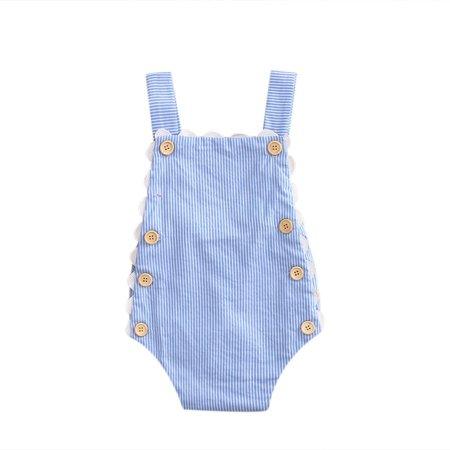 0eea02f9e855 Summer Newborn Baby Girl Denim Romper Jumpsuit Bodysuit Outfits ...
