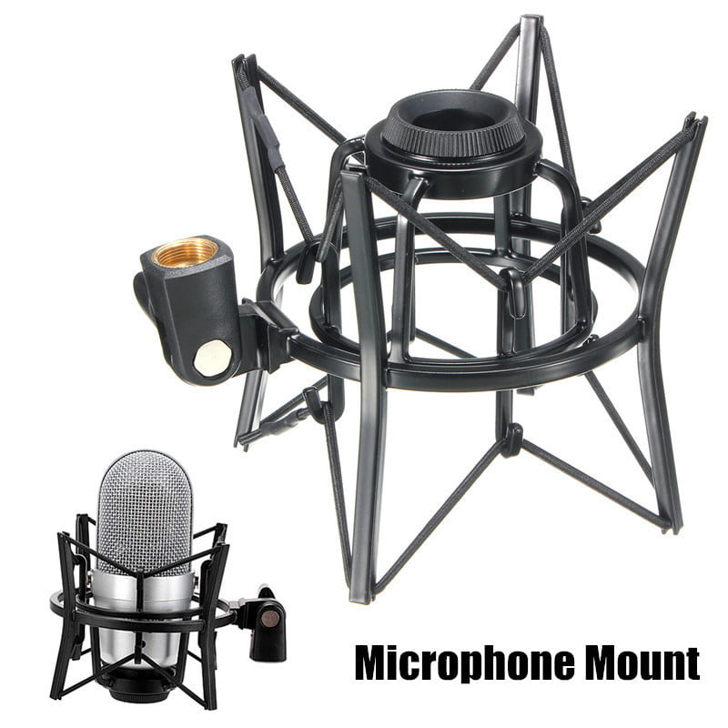 SH-100 Black Studio Microphone Shock Mount Holder for large size microphones by