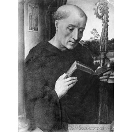 St Benedict Hans Memling (ca 1433-1494Netherlandish) Canvas Art - Hans Memling (18...