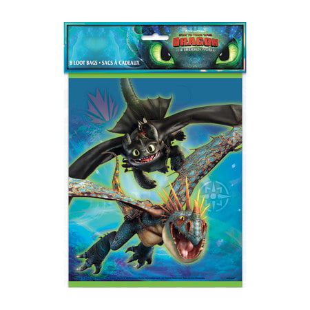 How to Train Your Dragon: The Hidden World - Loot Bags [8 per - Loot Bag Ideas For Halloween