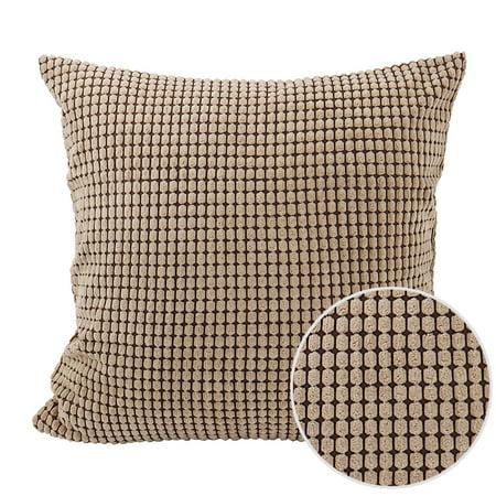 "Sofa Cushion Cover Striped Corduroy Throw Toss Pillow Cases 18"" Brown - image 5 de 7"