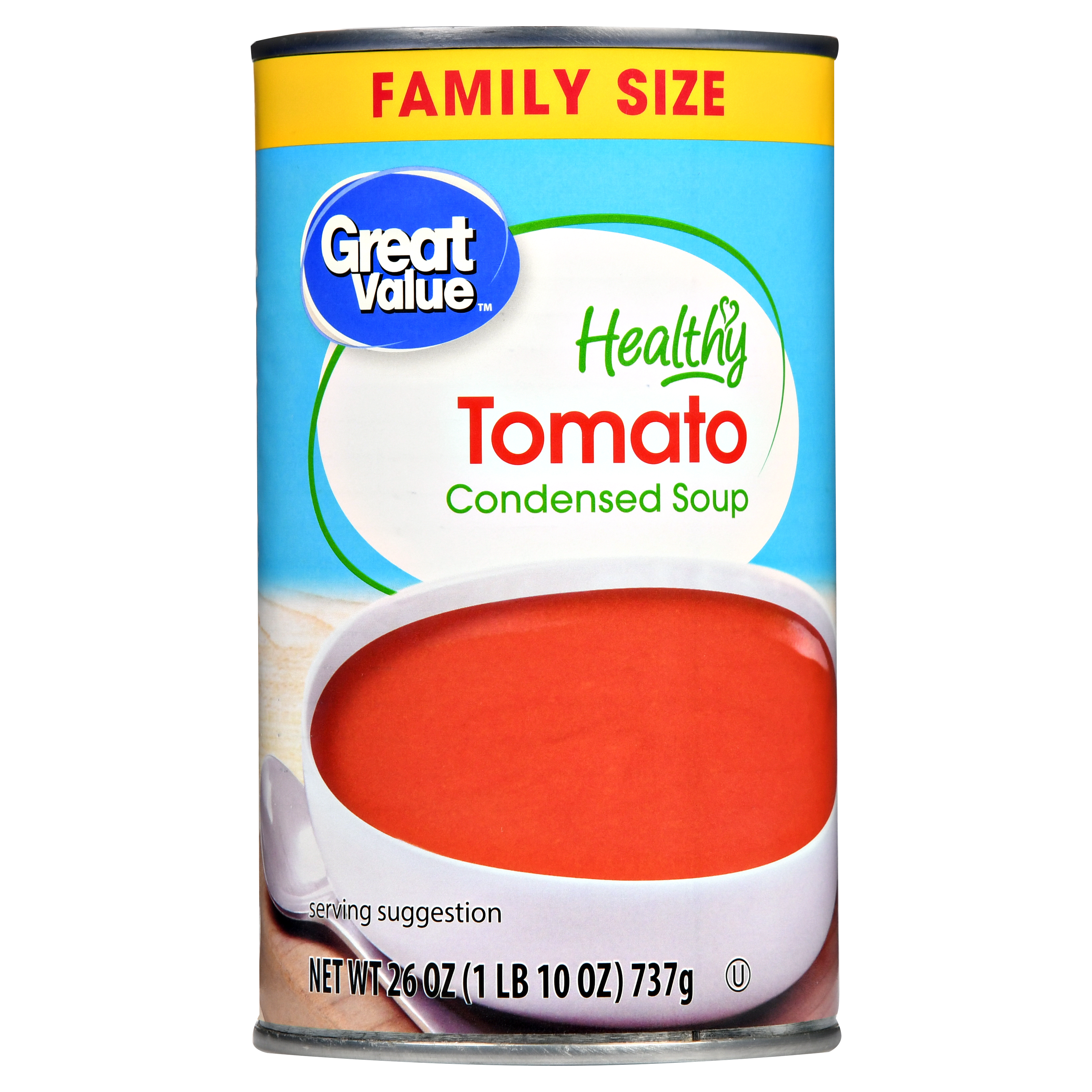 Great Value Healthy Tomato Condensed Soup Family Size, 26 oz