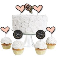 Best Day Ever - Dessert Cupcake Toppers - Bridal Shower Party Clear Treat Picks - Set of 24