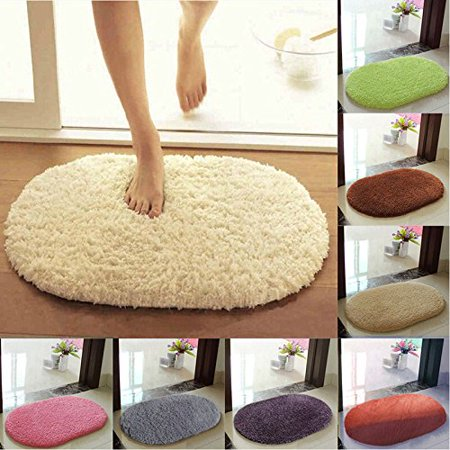 Non-slip Soft Bedroom Floor Door Mat Carpet Bath Bathroom Toilet Kitchen Rug(40*60cm Grass - Green Grass Mats