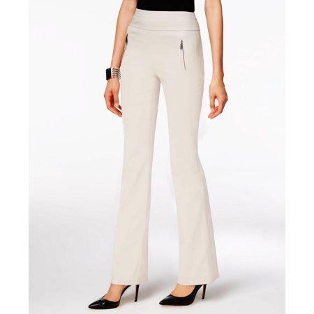 INC International Concepts Women's Zip-Pocket Wide-Leg Regular Fit Pants Size 12