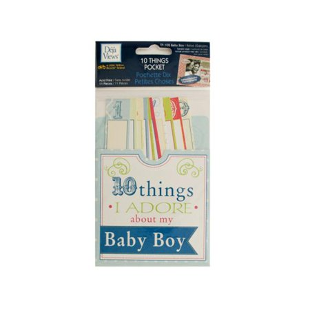 Bulk Buys Cg588 72 10 Things I Adore About My Baby Boy Journaling Pocket