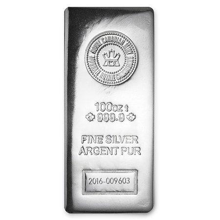 100 oz Silver Bar - RCM (.9999 Fine, Pressed