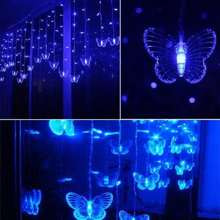 Led Butterfly String Light Waterproof Curtain Christmas Holiday Decoration Bulbs](Holiday Decorations)