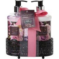 Simple Pleasures Lavender Vanilla Soap & Lotion Caddy Set One Size Pink/black multi