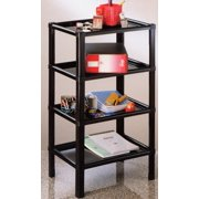 Four Tier Shelf Stand, Black, Storage and Home Organization