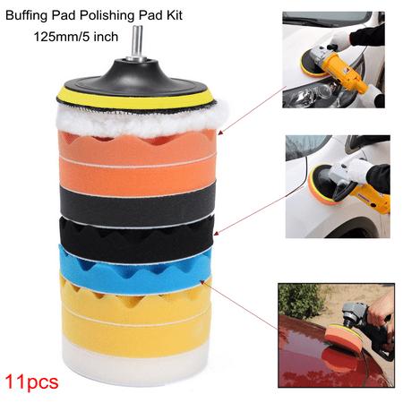 11pcs 5'' Buffing Polishing Sponge Pads Kit Compound Auto Car + Drill Adapter - image 5 of 6