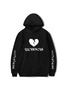 Men Trendy Xxxtentacion Fleece Lined Hoodie Hooded Sweatshirt Hip Hop Tops