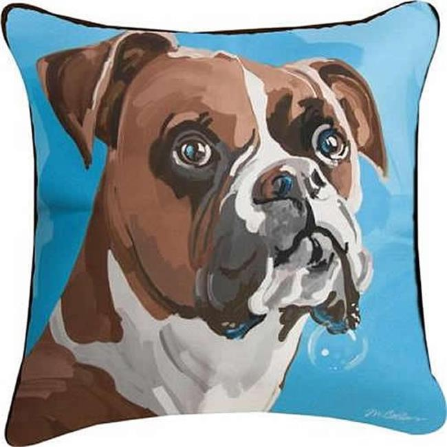 Manual Woodworkers & Weavers SLCBOX 18 x 18 in. Champ the Boxer Dye Pillow - image 1 of 1